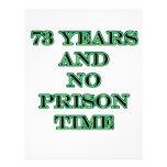 73 ninguna hora de prisión membrete a diseño