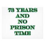 73 No prison time Personalized Invitations