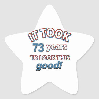 73 os diseños del cumpleaños del año etiquetas