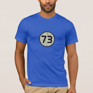 73 - The best number - Royal Blue T-Shirt