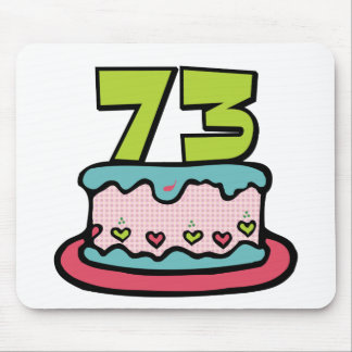 73 Year Old Birthday Cake Mouse Pad
