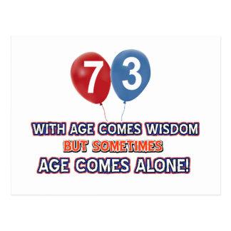 73 year old wisdom birthday designs postcard