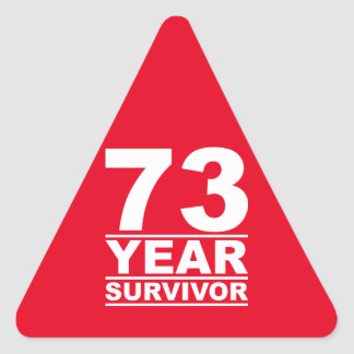 73 year survivor triangle sticker