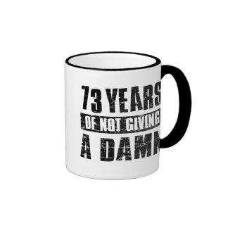 73 years ringer coffee mug