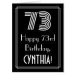 "[ Thumbnail: 73rd Birthday — Art Deco Inspired Look ""73"" + Name Card ]"