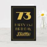 "[ Thumbnail: 73rd Birthday – Art Deco Inspired Look ""73"" & Name Card ]"