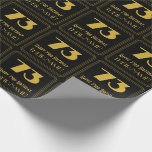 """[ Thumbnail: 73rd Birthday – Art Deco Inspired Look """"73"""" & Name Wrapping Paper ]"""