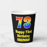[ Thumbnail: 73rd Birthday: Colorful, Fun, Exciting, Rainbow 73 ]
