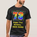[ Thumbnail: 73rd Birthday: Colorful Music Symbols, Rainbow 73 T-Shirt ]