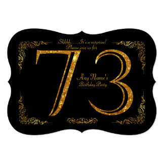 73rd,Birthday party 73rd,great Gatsby,black & gold Card