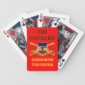73RD CAVALRY AIRBORNE THUNDER PLAYING CARDS