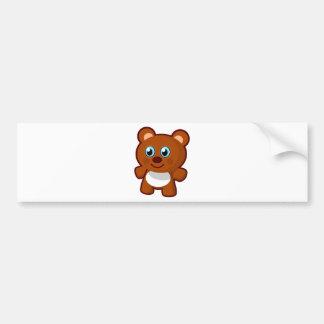 7414-little-bear-toy-vector  LITTLE BROWN TEDDYBEA Bumper Sticker