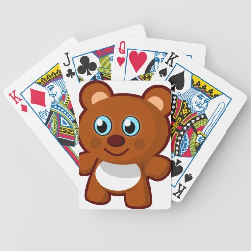 7414-little-bear-toy-vector  LITTLE BROWN TEDDYBEA Bicycle Playing Cards