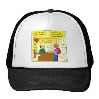 744 Medical alert erase my hard drive cartoon Trucker Hat