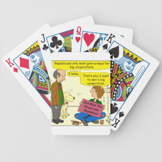 746 own a corporation cartoon bicycle playing cards