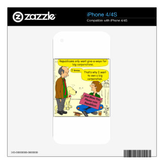 746 own a corporation cartoon decals for the iPhone 4S