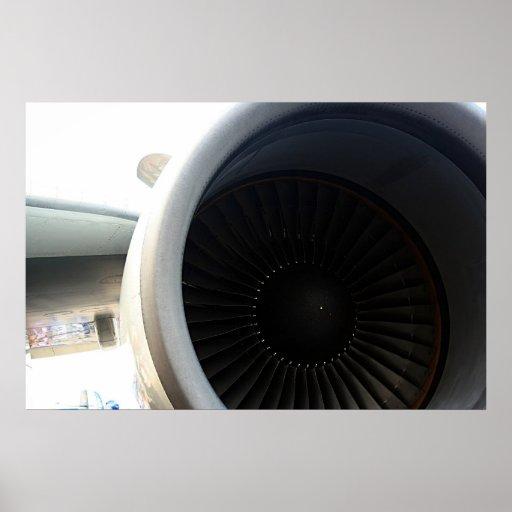 747 Engine Poster