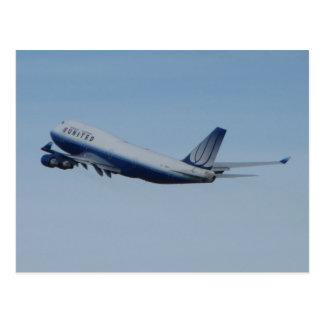 747 unidos que sacan tarjetas postales