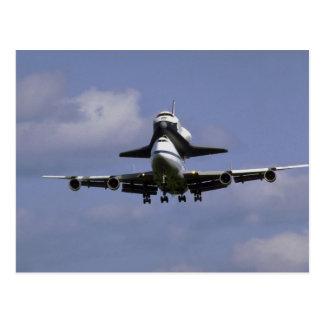 747 y lanzadera que llegan aire del International Postales