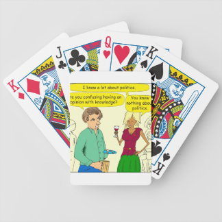 749 I write a political blog cartoon Bicycle Playing Cards