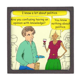 749 I write a political blog cartoon Jewelry Box