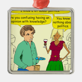 749 I write a political blog cartoon Metal Ornament