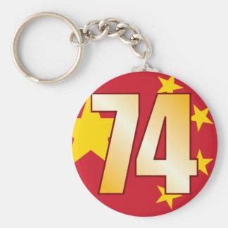 74 CHINA Gold Keychain