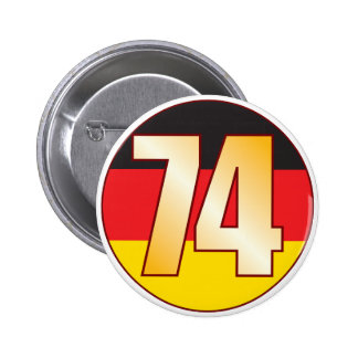 74 GERMANY Gold Pinback Button