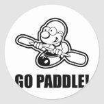 74_go_paddle round sticker