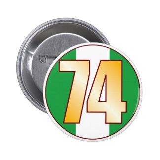 74 NIGERIA Gold Pinback Button