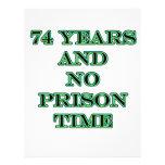 74 ninguna hora de prisión membrete a diseño
