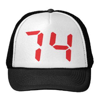 74 setenta y cuatro números digitales del desperta gorras