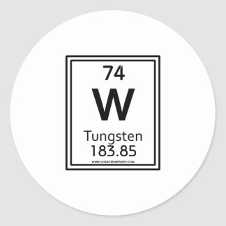 74 Tungsten Classic Round Sticker