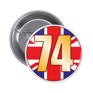 74 UK Gold Pinback Button