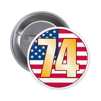 74 USA Gold Button