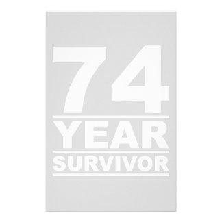 74 year survivor stationery