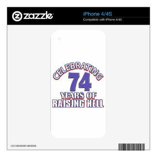 74 years of raising hell skin for the iPhone 4