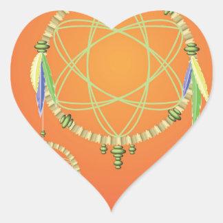 74Dream Catcher_rasterized Heart Sticker