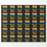 [ Thumbnail: 74th Birthday: Fun, Colorful Rainbow Inspired # 74 Wrapping Paper ]