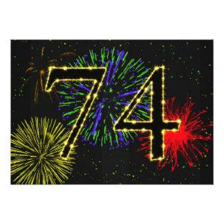 74th birthday party invitate announcement