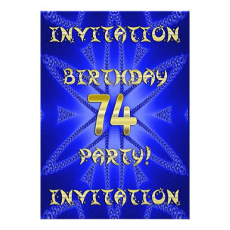 74th Birthday party invitation