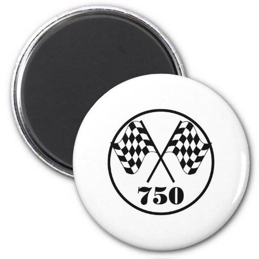 750 Checkered Flags Fridge Magnet