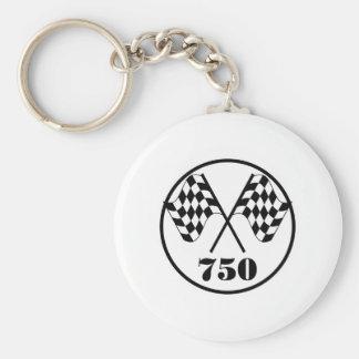 750 Checkered Flags Key Chain