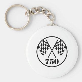 750 Checkered Flags Keychain