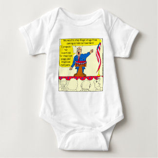 750 Drugs coming across our boarders cartoon Baby Bodysuit