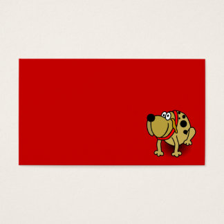 7522-guarddog-vector BROWN SPOTTED GUARD DOG RED C Business Card