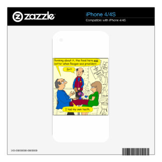 752 I had my teeth cartoon iPhone 4 Skins