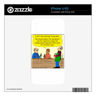 753 immigrants work for minimum wage cartoon decals for iPhone 4