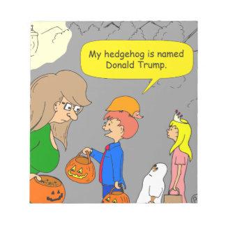 755 hedgehog named Donald Trump cartoon Notepad