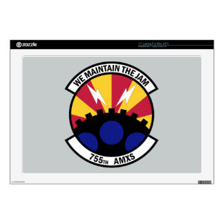 """755th Aircraft Maintenance Squadron 17"""" Laptop Decal"""